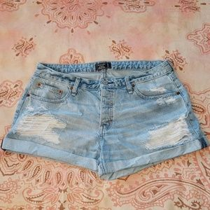 Abercrombie Distressed Low Rise Boyfriend Shorts
